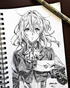 white notebook, how to draw manga, girl drawing, black and white, pencil sketch Hipster Drawings, Anime Drawings Sketches, Anime Sketch, Disney Drawings, Art Drawings, Copic Drawings, Drawing Faces, Pencil Drawings, Anime Character Drawing