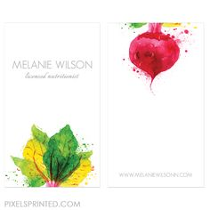chef / nutritionist business cards
