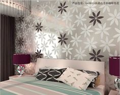 wall sticker, Aesthetic wallpaper for sitting room,TV wall sticker, modern simplicity large flower,5.88 squre meter WS-15