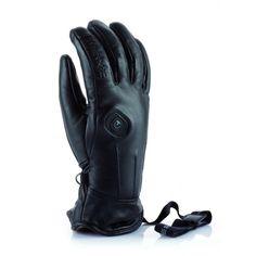 Thermic Powerglove Leather Womens Ski Glove In Black Women's Ski Gloves, Womens Ski, White Stone, Skiing, Leather, Black, Fashion, Ski, Moda