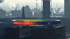 Your rainbow panorama by Olafur Eliason - the roof of Aros in Aarhus, Denmark.