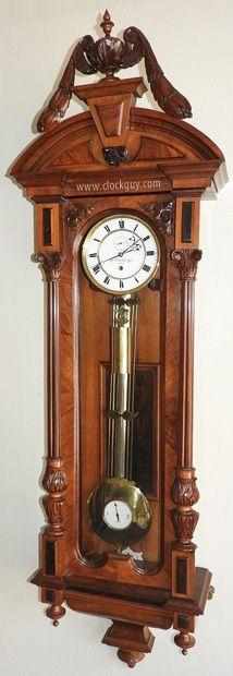 """30-Day Altdeutsch Vienna Regulator Signed """"H. Ellenberger, Wien"""" – Antique Clocks Guy"""