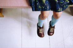 Bundgaard children's brown leather shoes in a gorgeous retro lace up design.