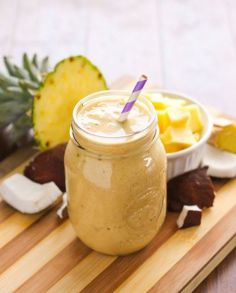 Spiced Pineapple Coconut Smoothie by Eat Spin Run Repeat