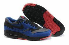 8DAPy6 Men Nike Air Max 1 Gray Black Blue