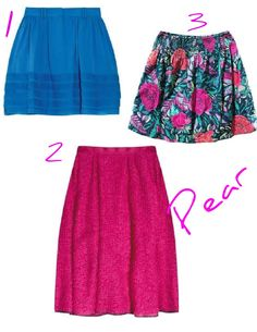 Skirts for pear shapes