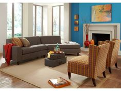The Riley Sectional and Caren Chair by Rowe.