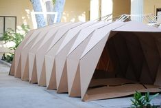 Cardboard Origami Shelter - Origami Inspired Cardboard Homeless Shelters To Help People Get Cardboard Shelters Cardboard House Cardboard Architecture Student Designs Housing Shel. Architecture Origami, Tropical Architecture, Architecture Design, Architecture Student, Origami 3d, Origami Design, Origami Folding, Folding Structure, Timber Structure