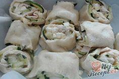 Cuketové briošky se šunkou a sýrem Fresh Rolls, Potato Salad, Food And Drink, Pizza, Ethnic Recipes, Fit, Shape
