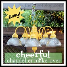The V Spot: No-sew cord cover & chandelier re-do