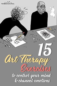 A bunch of art therapy exercises and activities inspired by Russian art therapist and psychologist Victoria Nazarevich. Therapy 15 Art Therapy Exercises to Control Your Mind and Channel Your Emotions Grief Activities, Art Therapy Activities, Art Therapy Projects, Therapy Ideas, Creative Arts Therapy, Art Therapy Directives, Anxiety Therapy, How To Express Feelings, Expressive Art