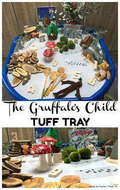 The Gruffalos Child Winter Tuff Tray Gruffalo Eyfs, Gruffalo Activities, Gruffalo Party, Eyfs Activities, The Gruffalo, Winter Activities, Christmas Activities, Toddler Activities, Book Activities