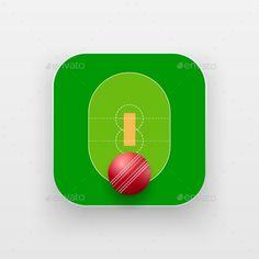 Square Icon of Cricket Sport