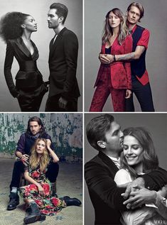 Couples in NYC Vogue 2012 - like bottom right couple shot