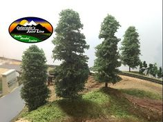 How To Make Evergreen Trees for Model Railroads and Dioramas - YouTube