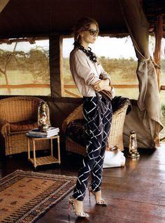 Vogue España Editorial Memorias De Africa, March 2010