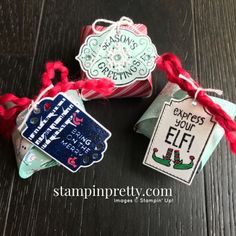 Tags Tags Tags & Mini Curvy Keepsake Box from Stampin\' Up! Trio by Mary Fish, Stampin\' Pretty