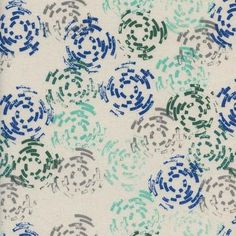 Puddle Jump Sea from the Raindrop collection by Cotton+Steel. 100% Unbleached Cotton Fabric