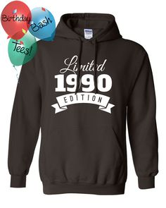 1990 Birthday Hoodie 27 Limited Edition 27th Gift For Him Celebration Her