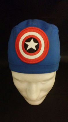 Captain America The First Avenger Marvel Comics Tie Back Surgical Scrub Hat by TipTopLids on Etsy