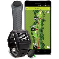 SkyCaddie LINX GT Golf GPS Watch (Black) - Game Tracking Edition w/ RFID Club Tags