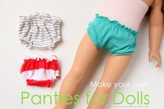 These could easily fit in the little LJC shopping bags! How-to make panties for 18 inch dolls tutorial by make-it-love-it