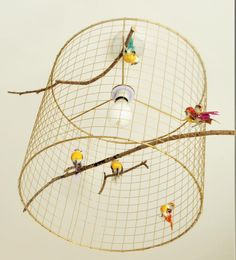 A beautiful, handmade birdcage lampshade compete with 5 birds and in bronze colour. Complements décor in any room, particularly hallways and living spaces. Hallway Ceiling Lights, Hallway Lamp, Ceiling Light Fittings, Bedroom Lamps, Home Office Decor, Bird Cage, Lampshades, Handmade Items, Living Spaces