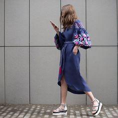 KingFlowerDress#vyshyvanka_by_varenykyfashion #modernfolk #embroidereddress