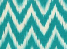 """""""TALAIA"""", a Turquoise chevron pattern for a refreshing style. #ikat #chevron #fabric"""