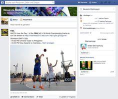 Facebook News Feed Interaktionen / Social Media