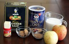 overnight oatmeal ingredients. Can't wait to make this! This is one of my husband's favorite breakfasts and we have a lot of steel cut oats right now.