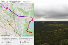 The weather was not so friendly in Berlin this weekend, but this small trip of walking, running and climbing to the top of a panorama tower was really worth it 😊 did not forget to turn my app on and start a new track :D #tracemytrack #track #app #trip #journey #Berlin #mueggelsee #running #jogging #sports #sportsapp #weekend #apps tracemytrack.com
