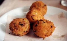 Bolinhos de Bacalhau (Codfish Patties). Another yummy food from Portugal.