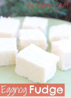 If you love eggnog you will LOVE these! Egg Nog Fudge! Sixsistersstuff.com #christmas #fudge #recipes