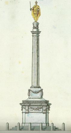 Gent - in 1600 stond het standbeeld van keizer karel op de vrijdagsmarkt.