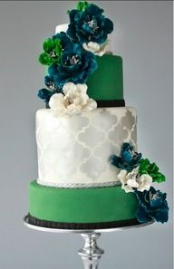 This goes out to the emerald lovers! Emerald theme wedding!