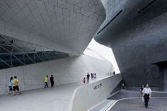 Overlooking the Pearl River the Guangzhou Opera House is at the heart of Guangzhou's cultural sites development.
