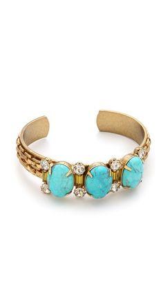 triple stone cuff bracelet / elizabeth cole