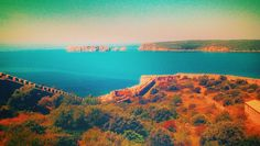 Pylos Castle View Sea Rocks