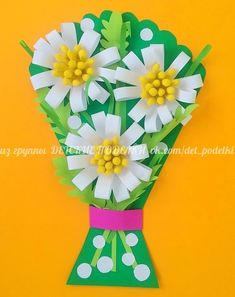 Summer crafts chamomile детские поделки for mom Craft Activities, Preschool Crafts, Easy Crafts, Diy And Crafts, Crafts For Kids, Mothers Day Crafts, Mother Day Gifts, Gifts For Mom, Summer Arts And Crafts