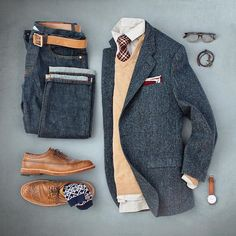 Outfit grid - Jacket & jeans