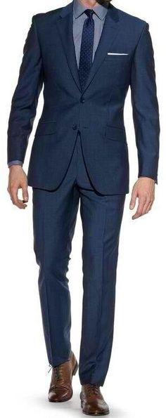 I Love Navy Blue Suits & Silk Ties!!!