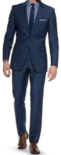 I Love Navy Blue Suits & Silk Ties!!!