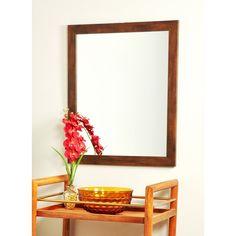 Modern Mocha Brown Wall Mirror (30.5 x 53.5) Walnut