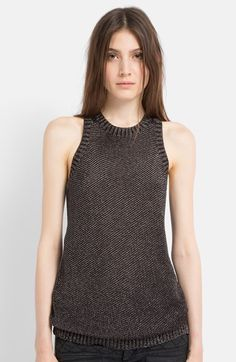 maje+Metallic+Sweater+Tank+available+at+#Nordstrom
