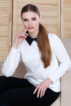 Bluza lejera cu guler: O poți atribui unei ținute office sau casual, te vei simți confortabil pe tot parcursul zilei și vei primi admirația cuvenită. Casual, Fashion, Moda, Fashion Styles, Fashion Illustrations