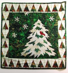 Christmas quilt by Martha Eddy