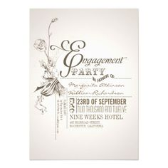 beautiful typography engagement party invitations