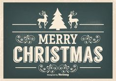 Here is an awesome vintage style typographic Merry Christmas illustration that I really hope you enjoy using! Christmas Town, Retro Christmas, Christmas Design, Christmas Greetings, Christmas Cards, Illustration Noel, Christmas Illustration, Illustrations, Alphabet