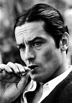 "Saatchi Art is pleased to offer the painting, ""ALAIN DELON,"" by Mariano Gigli. Danny Trejo, People Smoking, Jean Luc Godard, Photo Portrait, Black And White Portraits, Actors, Celebrity Photos, Portrait Photographers, Movie Stars"